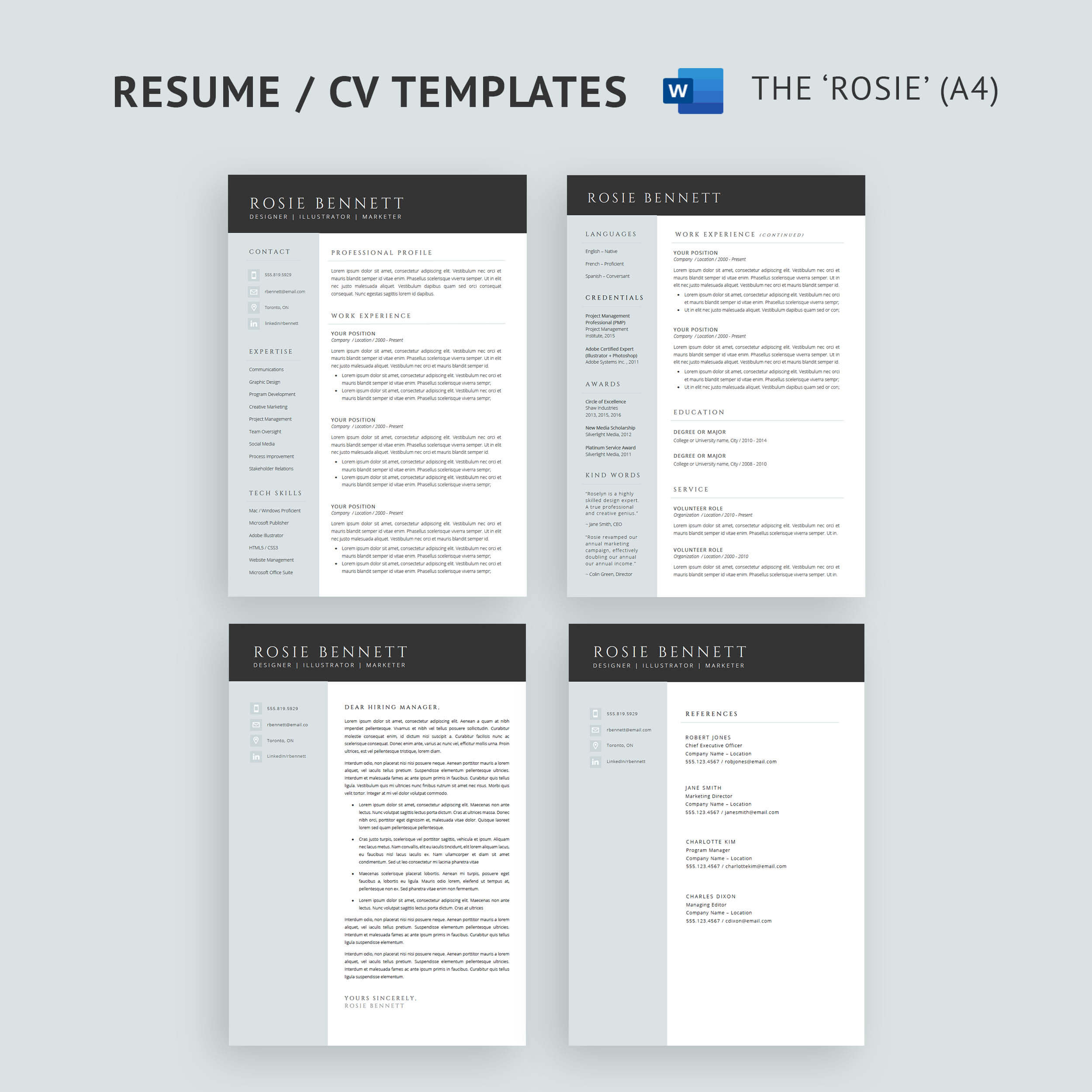 Resume Templates For Microsoft Word And Google Docs How