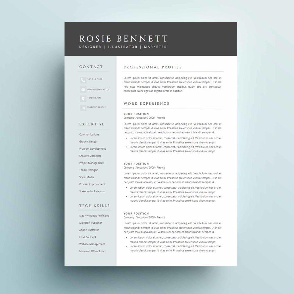 4-page resume template - the  u0026 39 rosie u0026 39