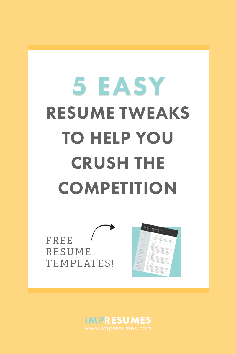 5 Easy Tweaks To Help You Crush The Competition