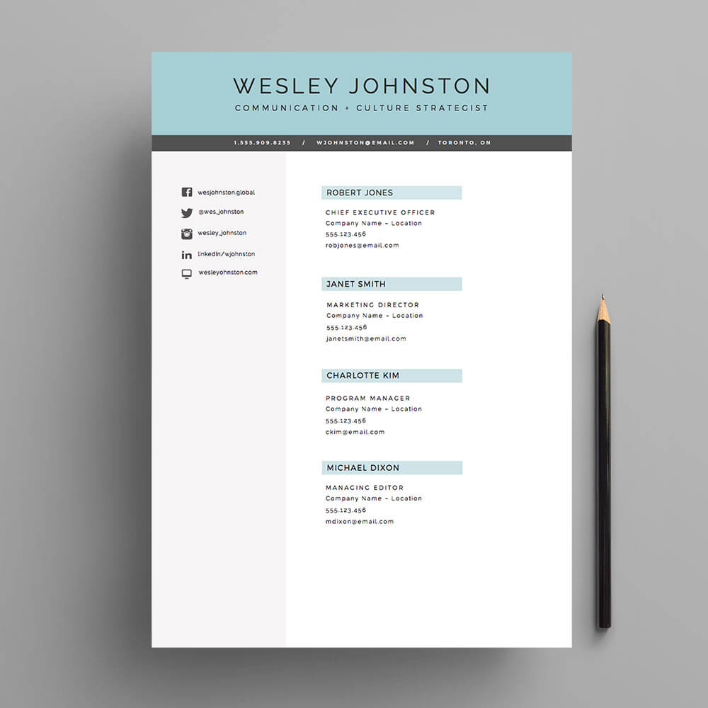 kick ass cover letters - resume cv template package for ms word 39 the wesley