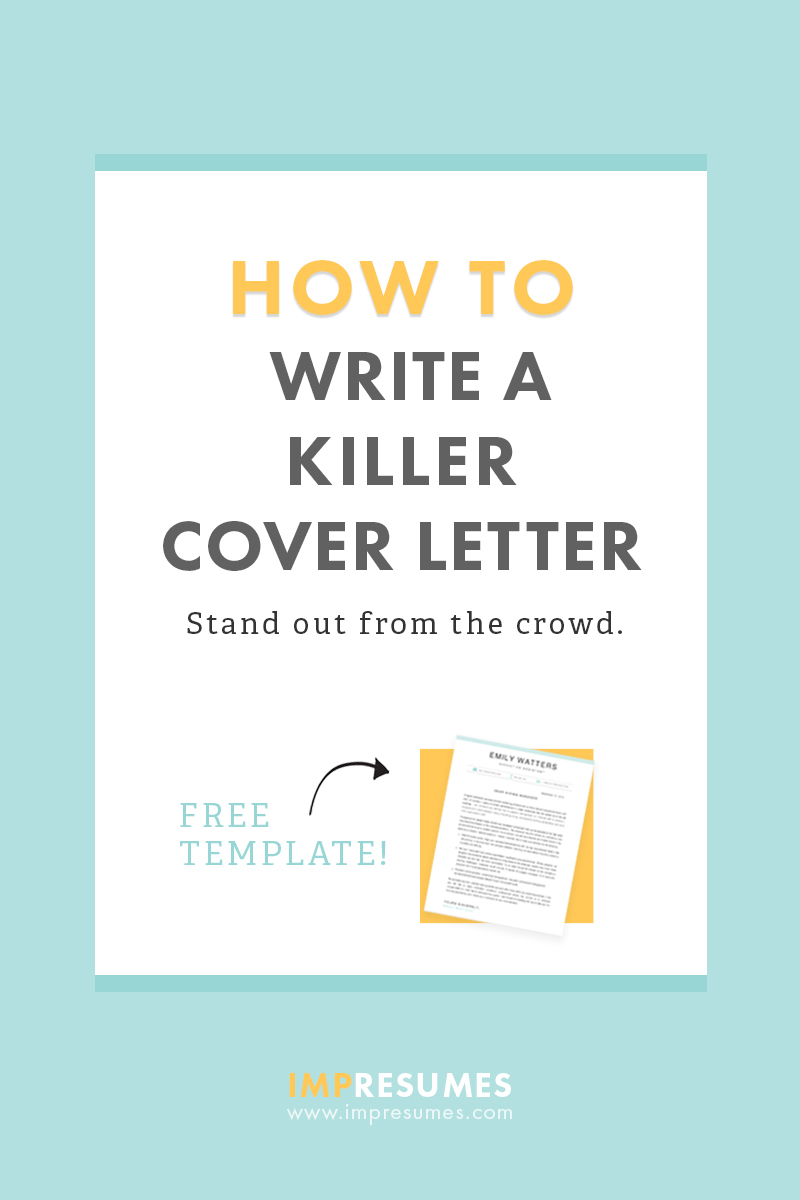 How To Quickly Write a Killer Cover Letter - Impresumes - Resumes ...