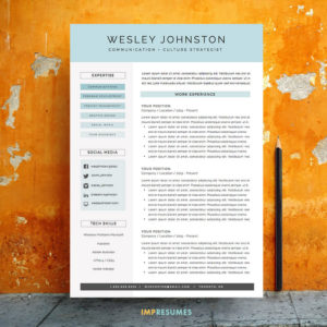 Human Resources Resumes Page Resume Template  The Rosie  Impresumes Quality Control Resume with Sales Job Resume Pdf Resume  Cv Template Package For Ms Word  The Wesley Hobbies And Interests On Resume Pdf