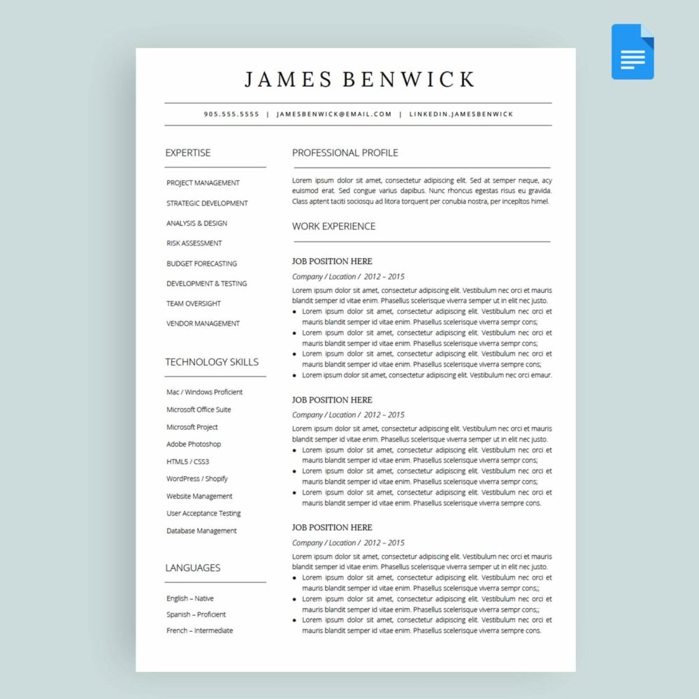 u0026 39 jasper u0026 39  resume    cv template package for google u2122 docs